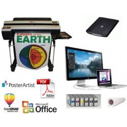 EWSMRS Poster and Banner Printing System - Scan a Small Picture Add Text and Print