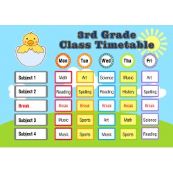 Elementary Schools Class Time Table