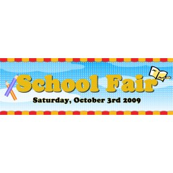 "School Fair 23"" x 70"" Banner Template"