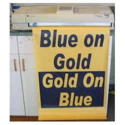 Blue on Gold Poster Paper