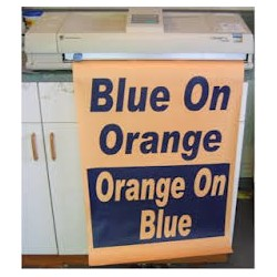 Blue on Orange Poster Paper