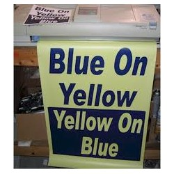 Blue on Yellow Poster Paper