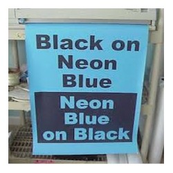 Black on Neon Blue Poster Paper