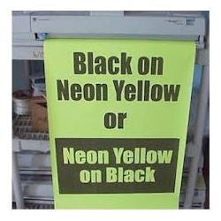Black on Neon Yellow Poster Paper