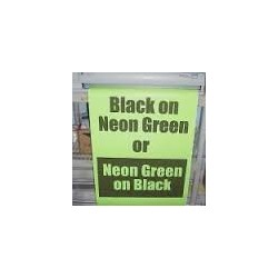 Black on Neon Green Poster Paper