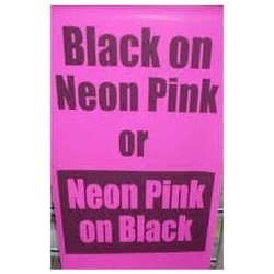 Black on Neon Pink Poster Paper