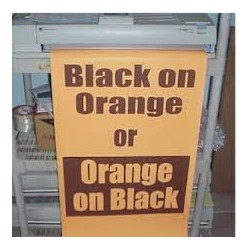 Black on Orange Poster Paper