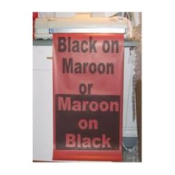 Black on Maroon Poster Paper