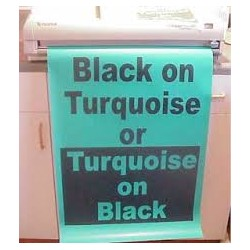 Black on Turquoise Poster Paper