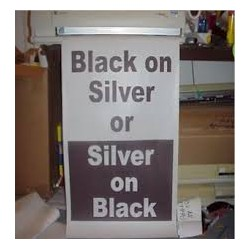 Black on Silver Poster Paper