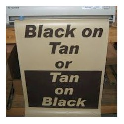 Black on Tan Poster Paper