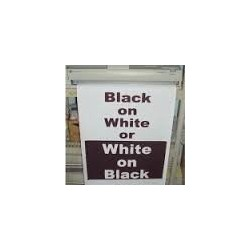 Black on White Poster Paper