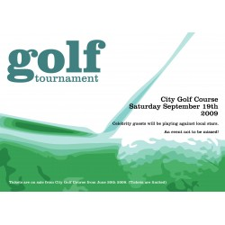 "Golf Tournament 23"" x 33"" Poster Template"