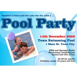 "Pool Party 23"" x 33"" Poster Template"