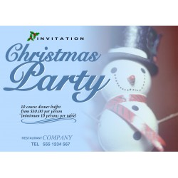 "Christmas Partyr 23"" x 33"" Poster Template"