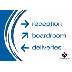"""Directional Sign 23"""" x 33"""" Poster Template"""
