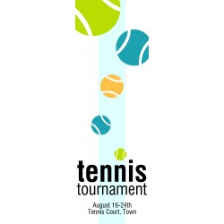 "Tennis Tournament Poster 24"" x 72"" Banner Template"