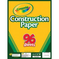 "Crayola Construction Paper Pad 9""X 12"" 96 Sheets"
