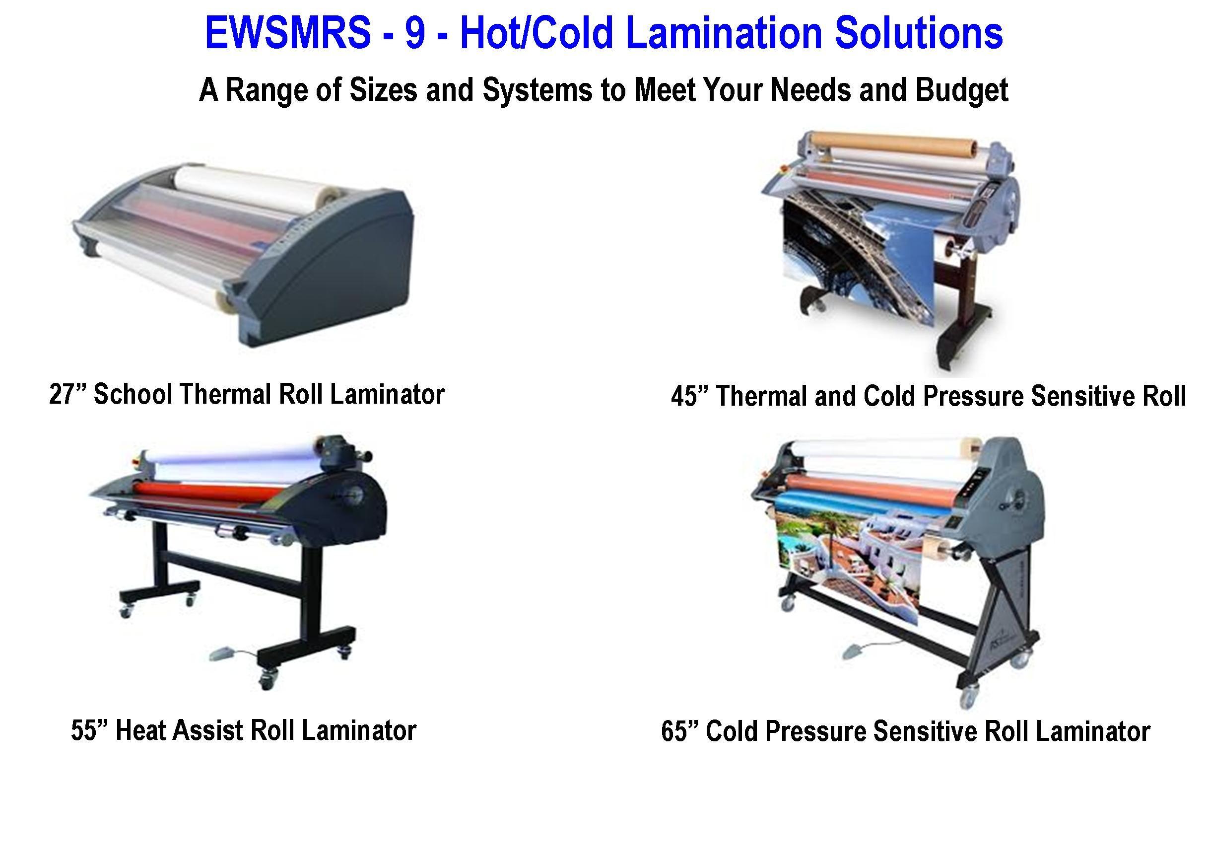 EWSMRS - 9 Hot/Cold Lamination Solutions